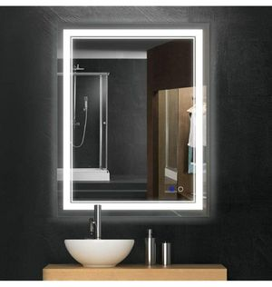 Keonjinn 36 x 28 Inch Bathroom LED Vanity Mirror Anti-Fog Wall Mounted Mirror with Light for Sale in Henderson, NV