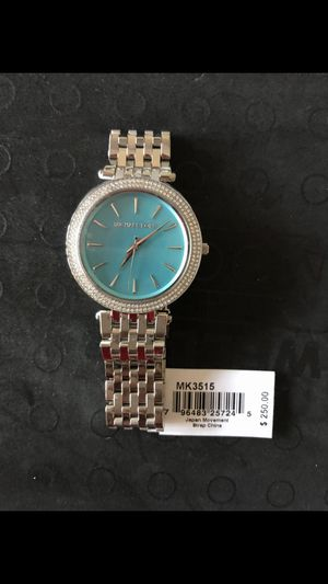 Michael Kors Women's Watch Silver/Teal Retail $250(NO BOX)(BRAND NEW)(PICK UP ONLY) for Sale in Los Angeles, CA