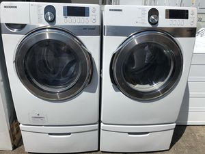 Samsung steam Washer and dryer with pedestals $750-$850 for Sale in West Covina, CA