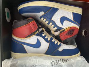 Jordan 1 retro high union Los Angeles blue toe size 8.5 for Sale in Bloomfield Hills, MI