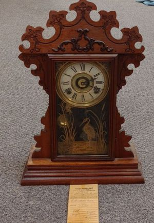 Antique Mantel Clock With Keys By Sessions Co. for Sale in Burlington, NC