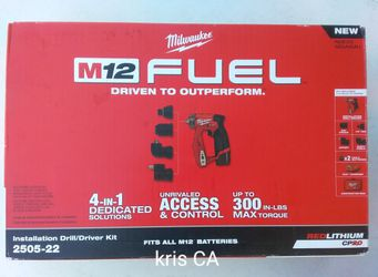 M12 Milwaukee Fuel Installation Drill Kit for Sale in City Of Industry, CA