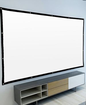 BRAND NEW 120 Inches 16:9 Ratio Indoor Outdoor Wrinkle Free Foldable Projector screen Home Theater Movie Screen Only for Sale in Whittier, CA