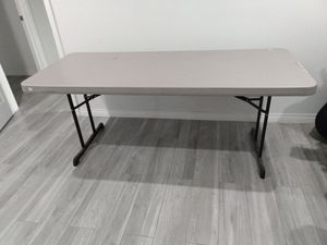 Folding work table project utility industrial crafting craftsmsn table LIFETIME for Sale in Los Angeles, CA