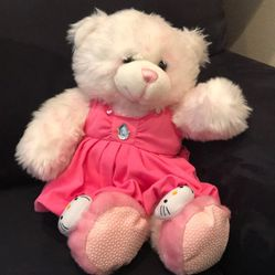 Build A Bear Plush Teddy Animal in Pink and White for Sale in Henderson,  NV