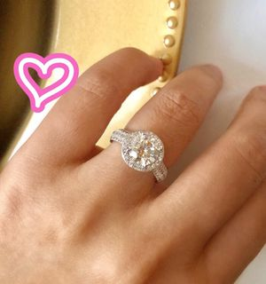 S925 Silver 2CT Halo Promise Ring for Sale in San Ramon, CA