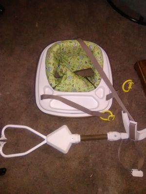 Ton of baby stuff... Graco car seat, 2 bouncer,3 carriages, activity center, Graco jolly jumper, for Sale in Medford, MA