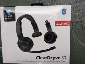 NEW ClearDryve 50 2-in-1 Bluetooth wireless headphones/headset for Sale in Port Richey, FL