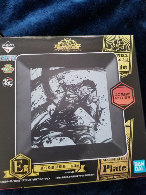 Anime: One piece, acrylic plate and cup. New
