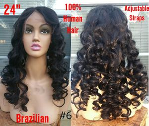 """New 24"""" 100% Brazilian Glueless Lace Front Human Hair Curly Wig (s6) for Sale in Greenbelt, MD"""