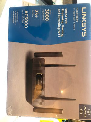 Linksys max stream AC3000 WiFi router for Sale in The Bronx, NY