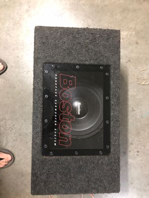 """Boston Rally Series 12"""" sub with box for Sale in Buford, GA"""
