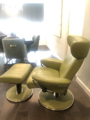Leather Recliner and Ottoman for Sale in Queens, NY
