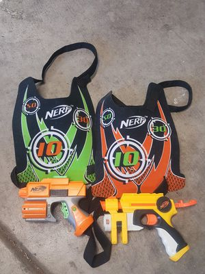 2 Nerf Guns with Vests for Sale in Las Vegas, NV