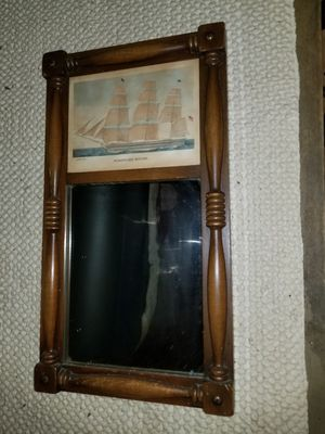 Antique wood mirror wall hanging for Sale in Leominster, MA