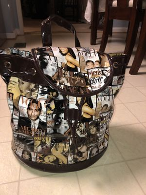 Magazine Cover Collage Backpack Faux vegan leather for Sale in Walkersville, MD