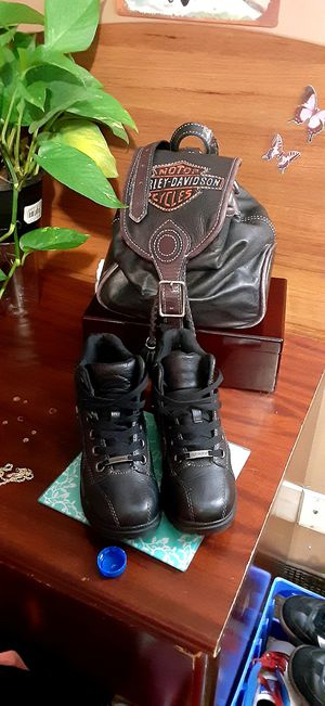 Harley davidson boots and bag for Sale in Atlanta, GA
