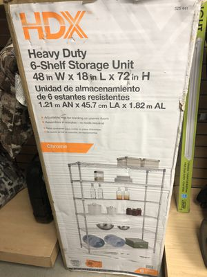 """New heavy duty 6- shelves storage unit 48""""X18"""" X 72""""H . for Sale in Garland, TX"""