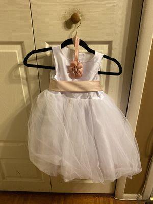Flower girl dress Blush and white for Sale in Upper Marlboro, MD