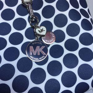Michael Kors Kiki Navy and White Polka Dot Charm Purse for Sale in La Mesa, CA