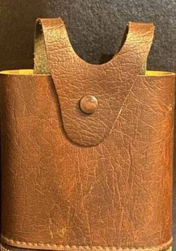 Vintage Genuine Leather JCPenney Zipper Pouch Bag Belt Waist Wallet Purse Flask Holder Case for Sale in Chapel Hill,  NC