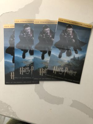 Harry Potter souvenir tickets for Sale in Nanuet, NY