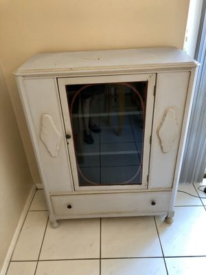 Cabinet with glass door and drawer for Sale in Plantation, FL