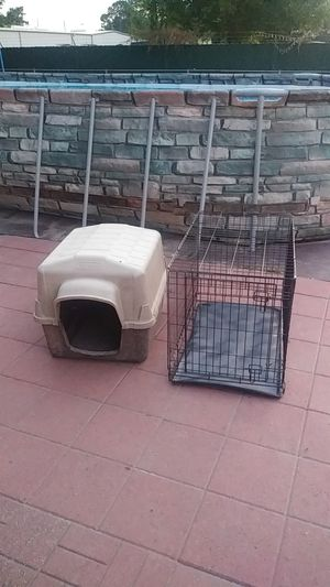Dog House and cage kennel crate for Sale in Houston, TX