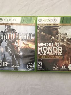 Xbox 360 Games Battlefield 4 $5. Medal Of Honor Limited Edition $5 Both 2 Disc Set Clean Discs for Sale in Reedley,  CA