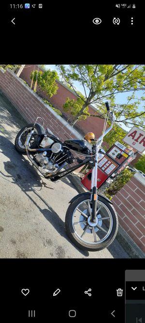 Harley davidson 75 iron head custom copper brand new carborator runs great hard tale. for Sale in Nashville, TN
