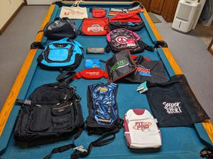 Large Lot of Name Brand Backpacks & Bags Columbia Adidas Skullcandy Fila READ for Sale in Clinton, OH