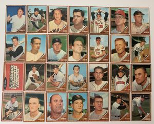 28 All HIGH NUMBERS & SHORT PRINT 1962 TOPPS BASEBALL CARDS for Sale in Brea, CA