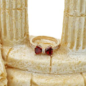 Fashion red crystal bow golden ring for Sale in Redwood City, CA