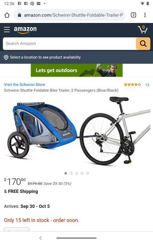 One-Step bike trailer for Sale in Miami Beach, FL