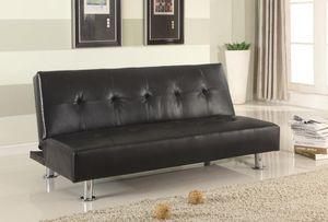 RAMO BLACK PU CLIK-CLAK FUTooooON SOFA BED | 4415K for Sale in Arlington, VA