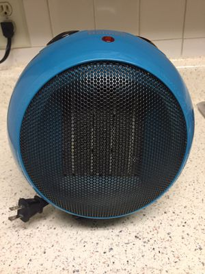 Ceramic Heater with Thermostat (Blue) for Sale in Berwyn Heights, MD