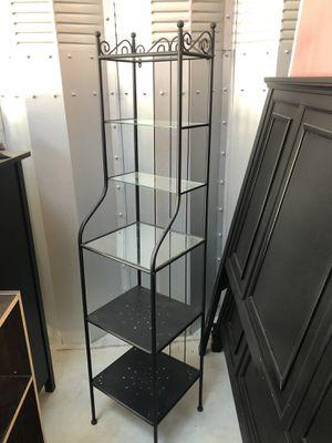 Bakers Rack Shelves Black for Sale in San Diego, CA