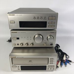Onkyo A-905x integrated amplifier, T-405x Tuner, C-707CH 3 Disc CD player for Sale in Vallejo, CA