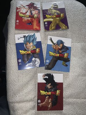 Dragon ball super part 1-5 dvds for Sale in Chambersburg, PA