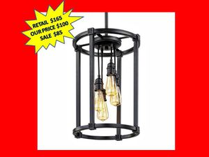 Romaro Row 4-Light Chandelier with Vintage Bulbs. BRAND NEW! for Sale in Plantation, FL