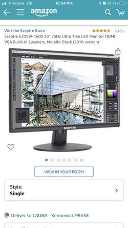"20"" Monitor for Sale in Kennewick,  WA"