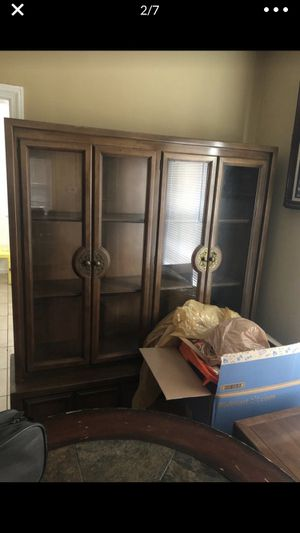 Antique china cabinet and bar table for Sale in FAIRMOUNT HGT, MD