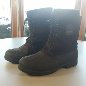 Kamik Waterproof Duck Boots Men's 11 Removable Insulated Liner Brown Suede Rubber for Sale in Willowbrook, IL