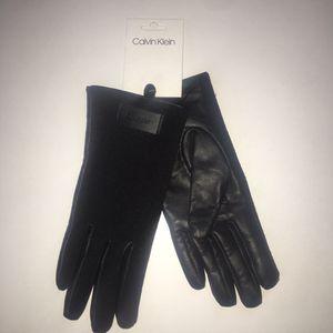 Calvin Klein Leather knit gloves for Sale in Denver, CO