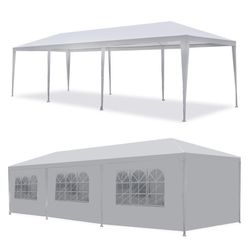 10'x 30' White Gazebo Wedding Party Tent Canopy With 6 Windows & 2 Sidewalls-8 for Sale in La Puente,  CA