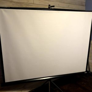 Large Projection Screen Tripod + Carrying case for Sale in Bartow, FL