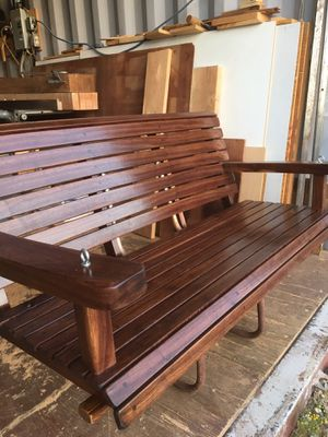 """WALNUT PORCH SWING TEAK OIL FINISH WITH CHAIN 52"""" Wide $540 for Sale in Perris, CA"""