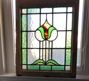Antique stained glass in original frame for Sale in Austin, TX