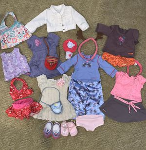 American girl 18' doll pajama, dress, bags, shoes and swimsuits for Sale in Los Angeles, CA