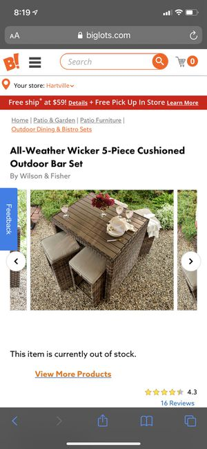 Outdoor table and stool furniture for Sale in Canton, OH